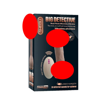 Big Detective usb rechargeable Remote controlled dildo vibrator for females
