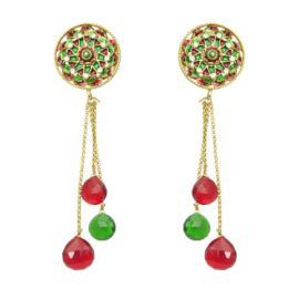 Sia (SL-2803 Red/Green/Gold) Earings