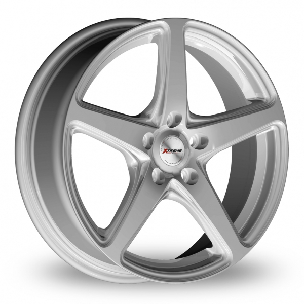 17 Inch  Xtreme X60  Silver  5  Spoke  Alloy Wheels