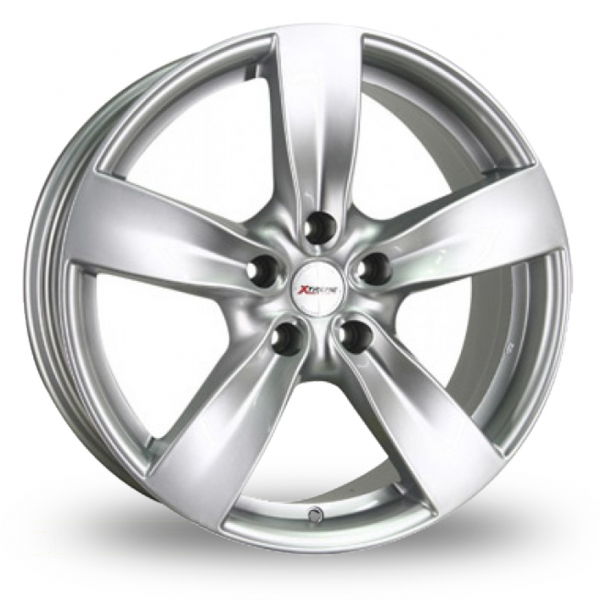 18  Inch  Xtreme  X70  Silver  5  Spoke  Alloy  Wheels