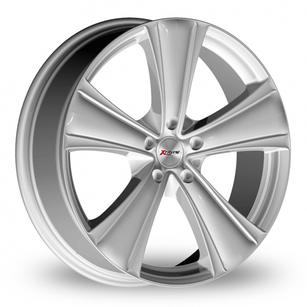 18  Inch  Xtreme  X90  Silver  5  Spoke  Alloy  Wheels