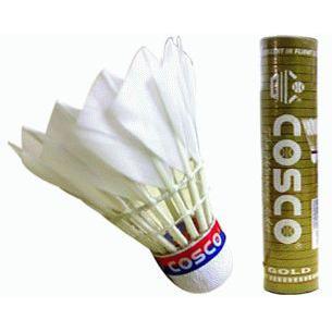 Cosco Gold Feather Shuttlecock (5 Barrels)