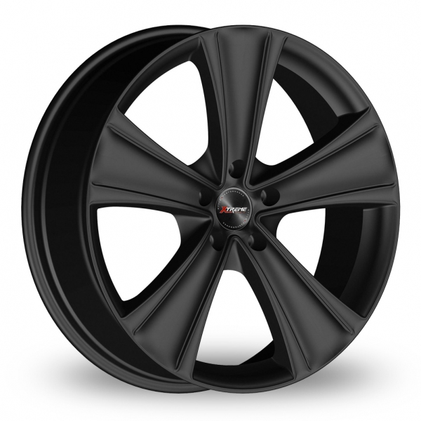 22 Inch Xtreme X90 Black 5 Spoke Alloy Wheels