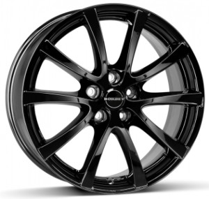 Borbet Alloy Wheels  LV4 - 15 Inches Black Glossy (100 x 4)