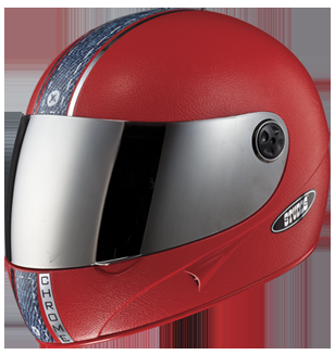 Studds Chrome With Mirror Visor  Helmet