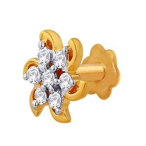 Asmi ADJ00085 Nose Pin 18KT Y Gold 0.96