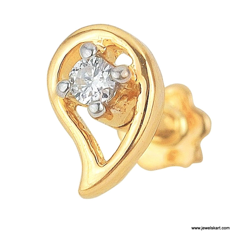 Asmi ADJ00003 0.53 gram , 18 K Gold Nosepin