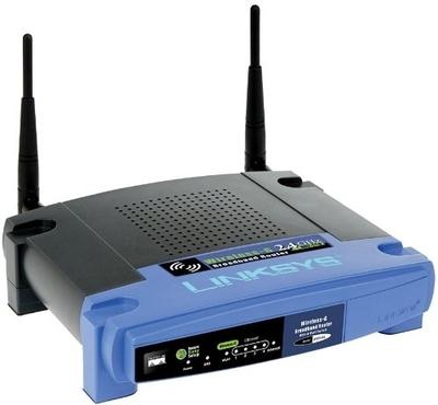 Cisco Linksys WRT54GL Wireless-G Broadband Linux (Black & Blue)