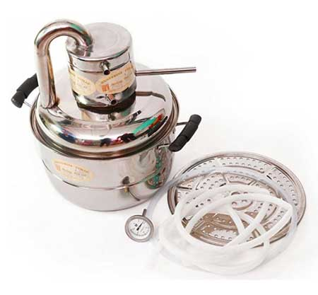 Alcohol Distiller 10 Litre Brewing Kit Moonshine Stills Wine Spirits Boiler With Pump
