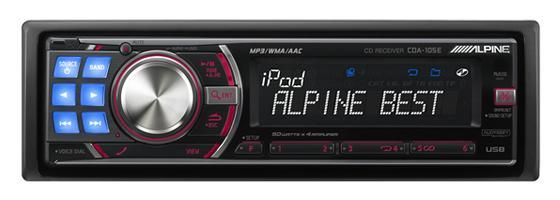 Alpine CD Head Unit CDA-105E/EM