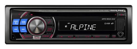 Alpine CD Head Unit CDE-102E