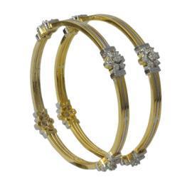 Noor (HI-5141 Silver/Gold) Bangles
