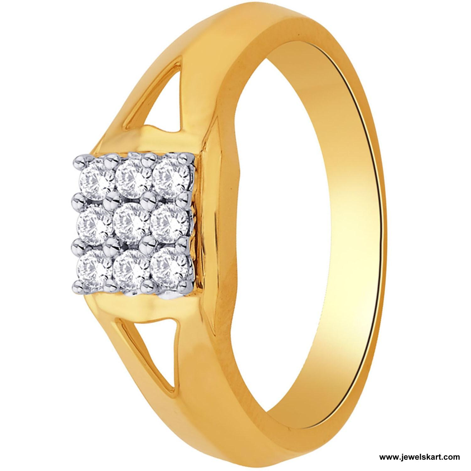 Sangini IDR00552 Gold, 4.68 gm, 0.31 ct, Diamond, Ladies Ring
