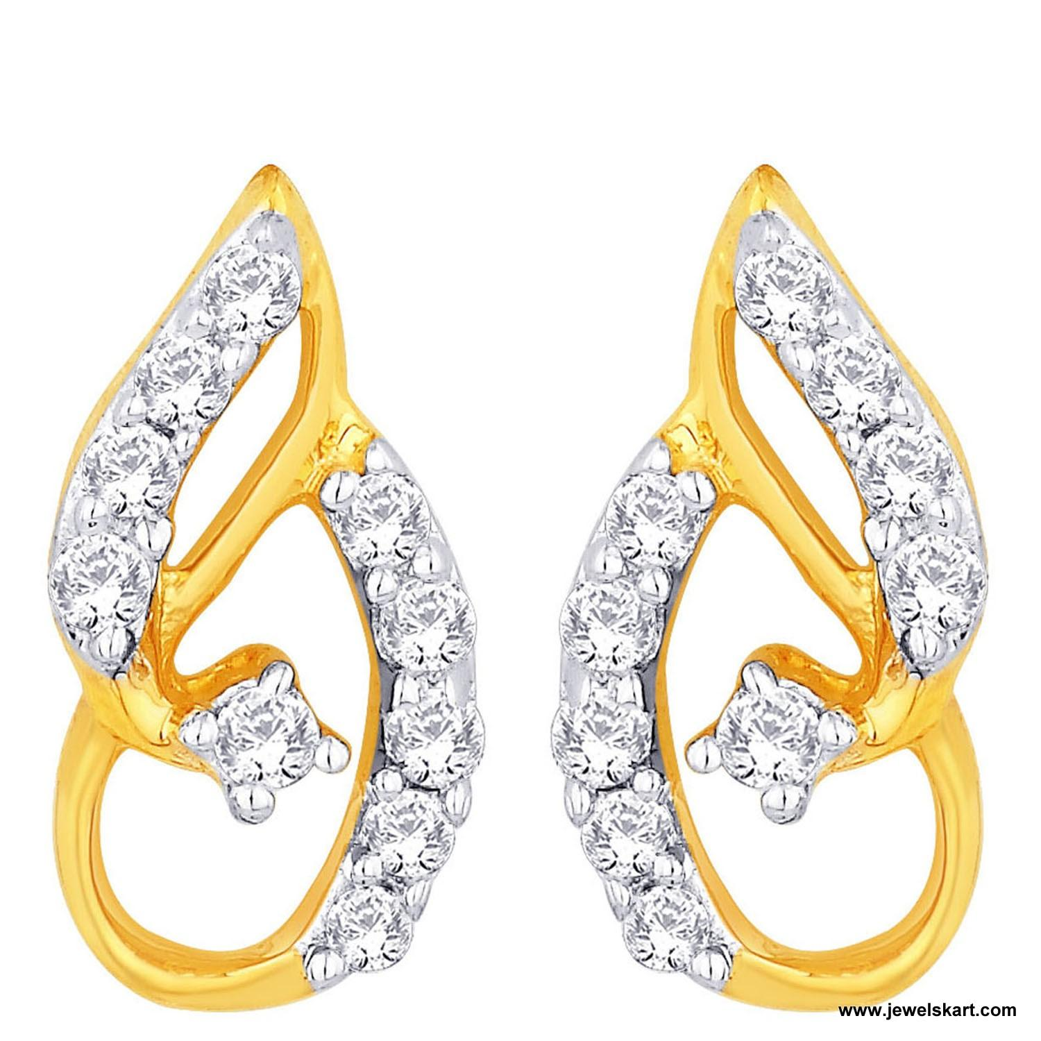 Sangini IDE00473 Gold, 4.68 gm, 0.25 ct, Diamond, Ladies Earring