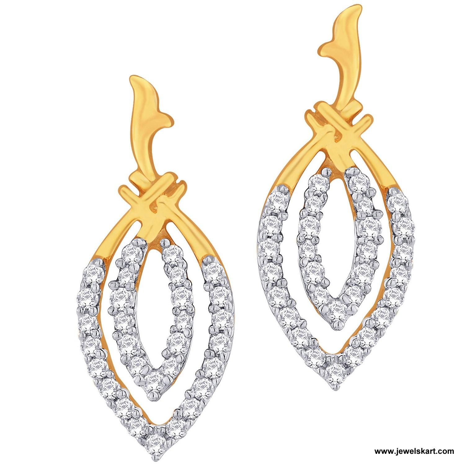 Sangini IDE00382 Gold,4.68 gm, 0.63 ct, Diamond, Ladies Earring