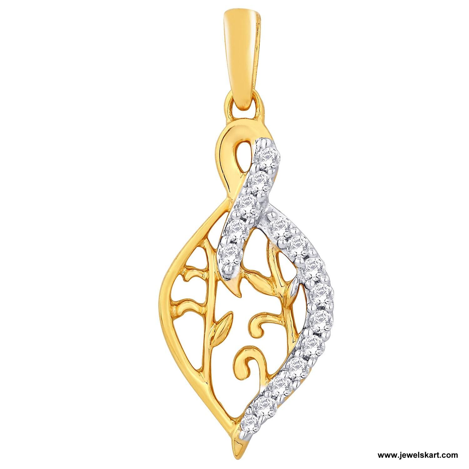 Sangini IDP00331 Gold, 4.68 gm, 0.19 ct, Diamond, Ladies Pendant
