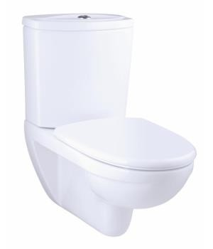 Kohler Odeon wall hung toilet with exposed tank in white with Quiet-Close seat and cover - K-17661K-S