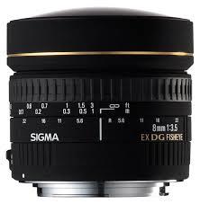 Sigma 8mm F/3.5 EX DG Circular Fish Eye Lens -Nikon- (72mm)
