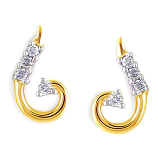 Gili GEL192 Ear ring 18KT Y Gold 1.24