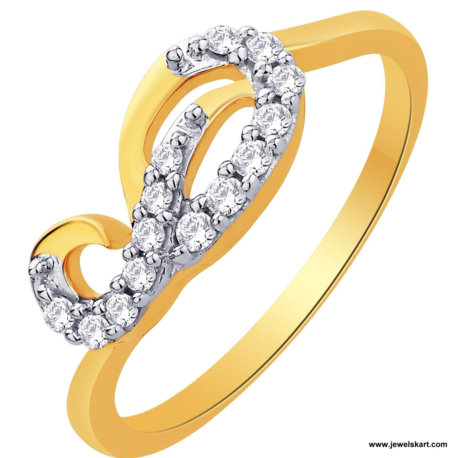 Sangini IDR00676 Gold, 4.68 gm, 0.17 ct, Diamond, Ladies Ring