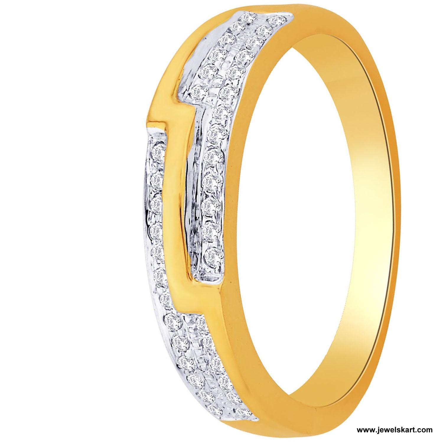 Sangini IDR00249 Gold, 4.68 gm, 0.18 ct, Diamond, Ladies Ring