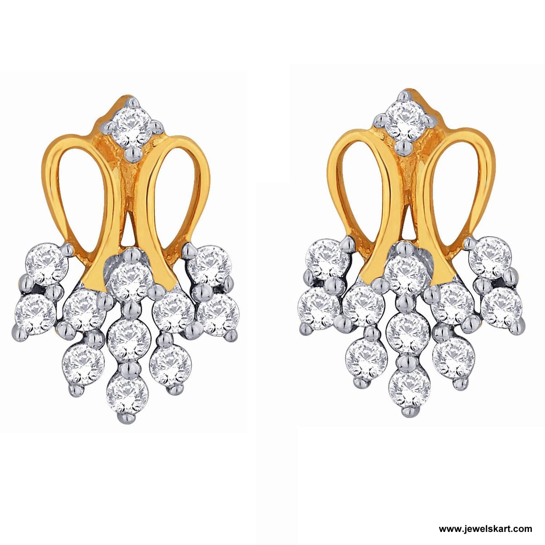 Sangini IDE00356 Gold, 4.68 gm, 0.35 ct, Diamond, Ladies Earring