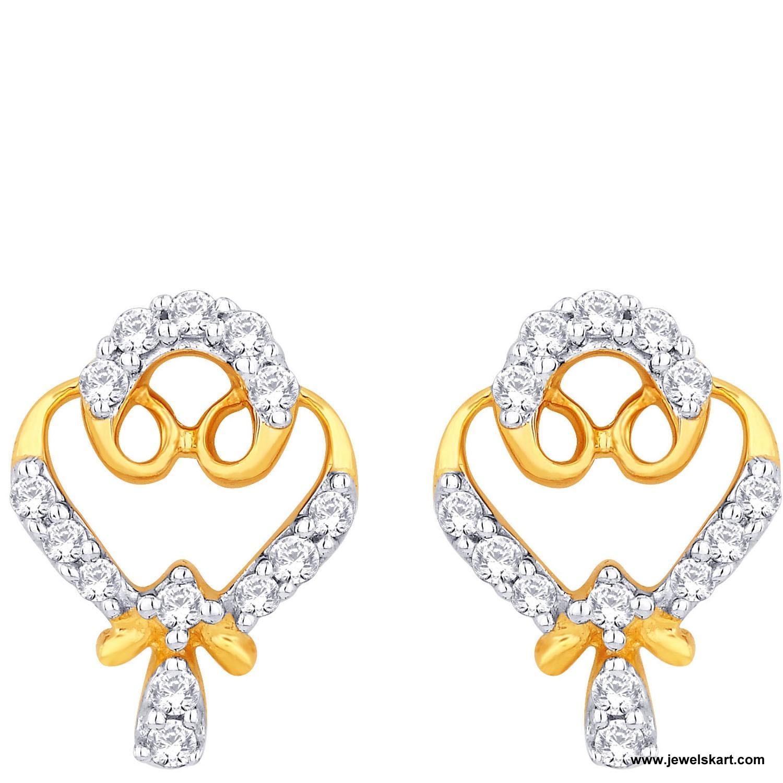 Sangini IDE00404 Gold, 4.68 gm, 0.37 ct, Diamond, Ladies Earring