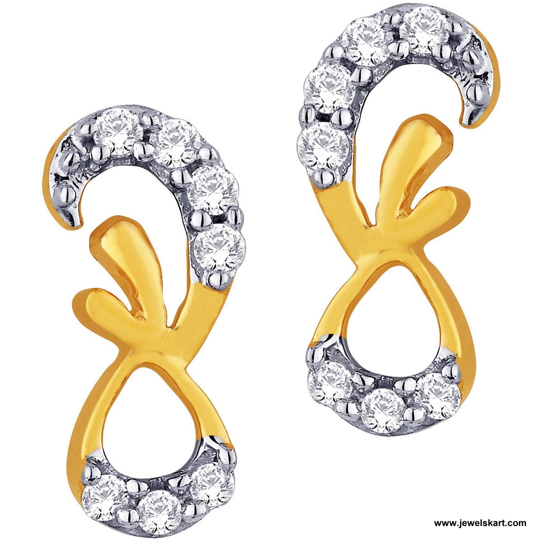 Sangini IDE00346 Gold, 4.68 gm, 0.19 ct, Diamond, Ladies Earring