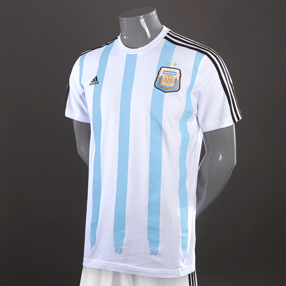 Adidas Argentina World Cup Messi Jersey White & Blue