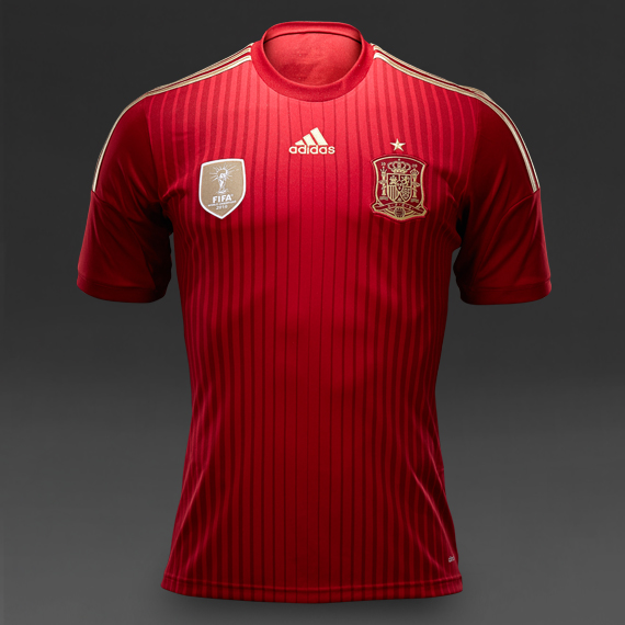 Adidas Spain World Cup Home Replica Jersey Red & Gold