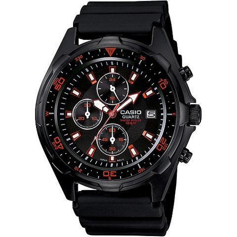 Casio AMW370B1A1 Men's Black Analog Multi-Function Watch