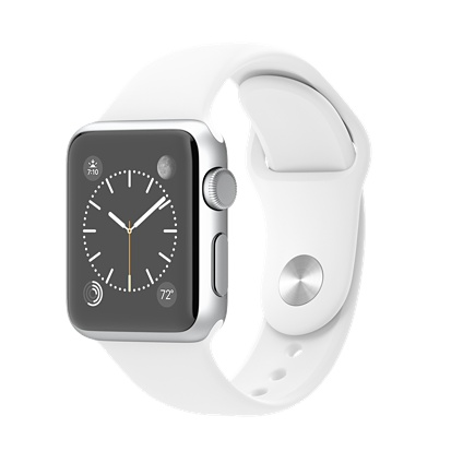 Apple watch Sport 38mm Silver Aluminium Case with White Sport Band Smart watch