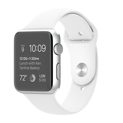 Apple watch Sport 42mm Silver Aluminium Case with White Sport Band Smart watch