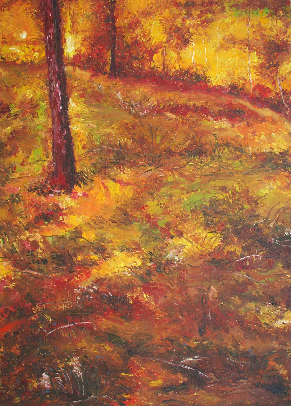 Autumn Landscape - Oil paining by Animesh Roy