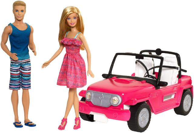 Barbie Beach Cruiser and Ken Doll