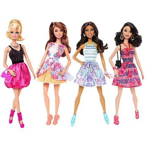 Barbie & Friends Fashionistas 4pack Girls Doll