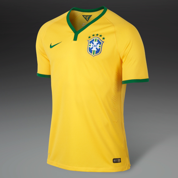 Nike Brazil World Cup 2018 Jersey Yellow & Pine Green