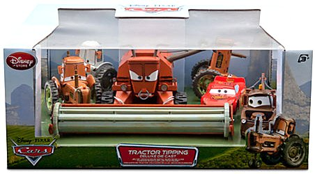 Disney Cars Tractor Tipping set with Frank, 3 Tractors, McQueen and Mater RC Toys