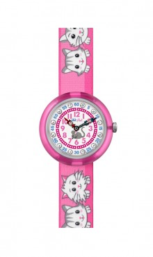 Swatch  CUTY  CATS  IN  PINK  ZFBNP014  Watch