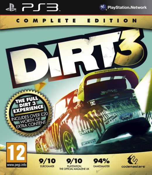 Dirt 3: Complete Edition PLAYSTATION 3 GAME
