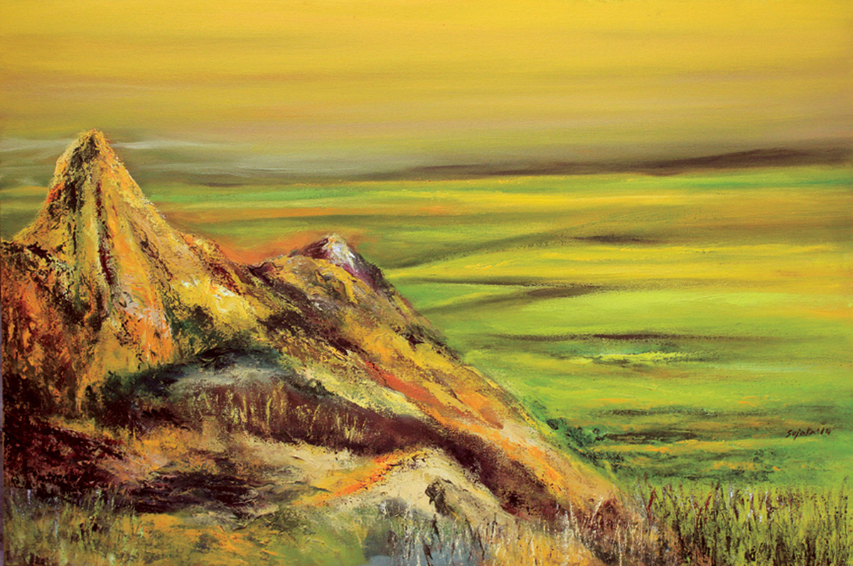 Edge of the world - Oil paining by Sujata Kar Saha
