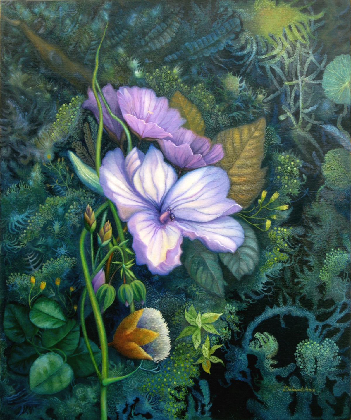 Fantasy Mauve - Oil paining by Debarati RoySaha