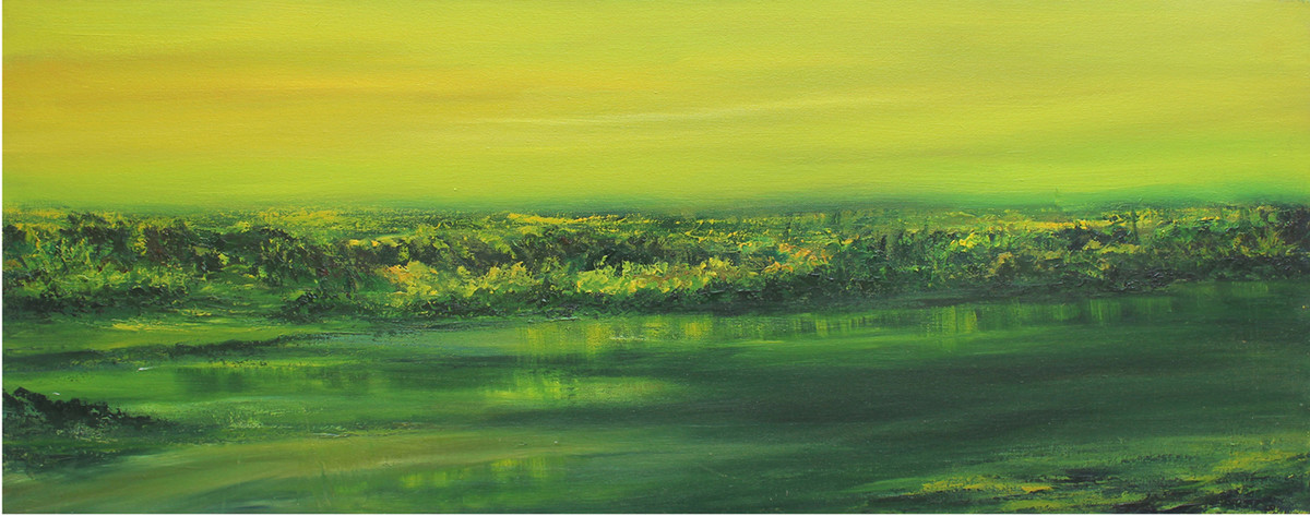 Green Effect - Oil paining by Sujata Kar Saha
