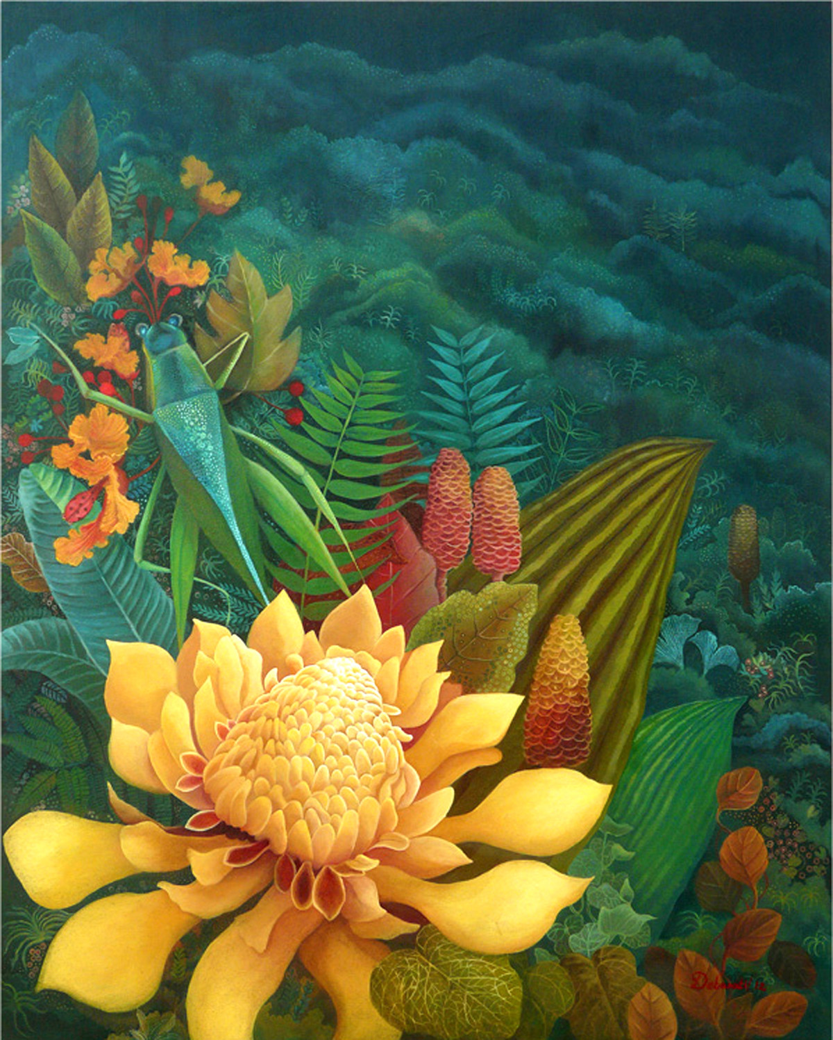 Nature2 - Oil paining by Debarati RoySaha