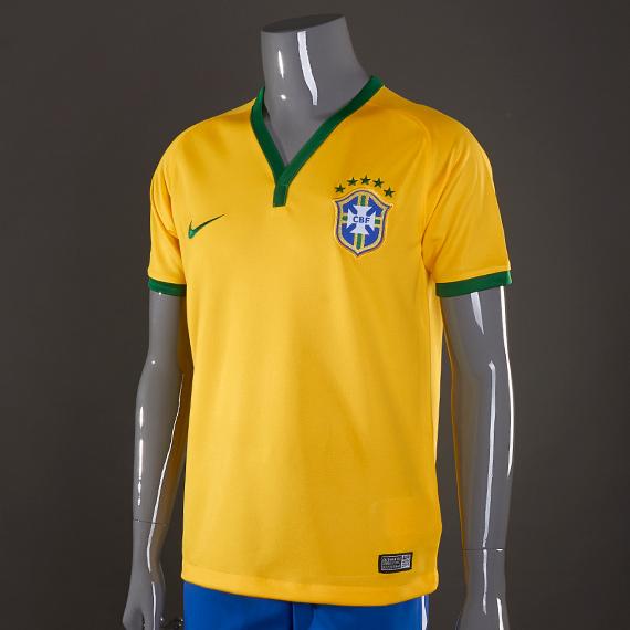Nike Brazil World Cup 2018 Home Stadium Kids Jersey