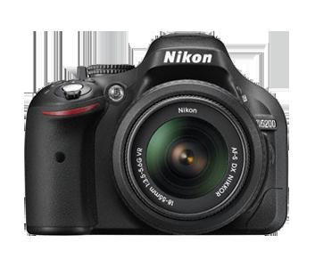Nikon 24.1 Mega pixels D5200 DSLR