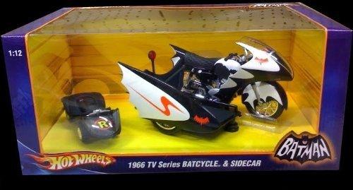 Batman HOTWHEELS 1966 TV Series BATCYCLE & SIDECARRC Toys