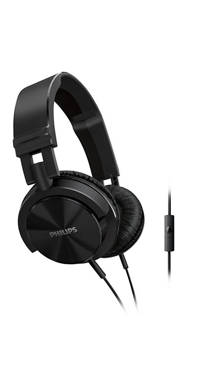 Philips SHL3005 DJ monitor style Headphones with mic