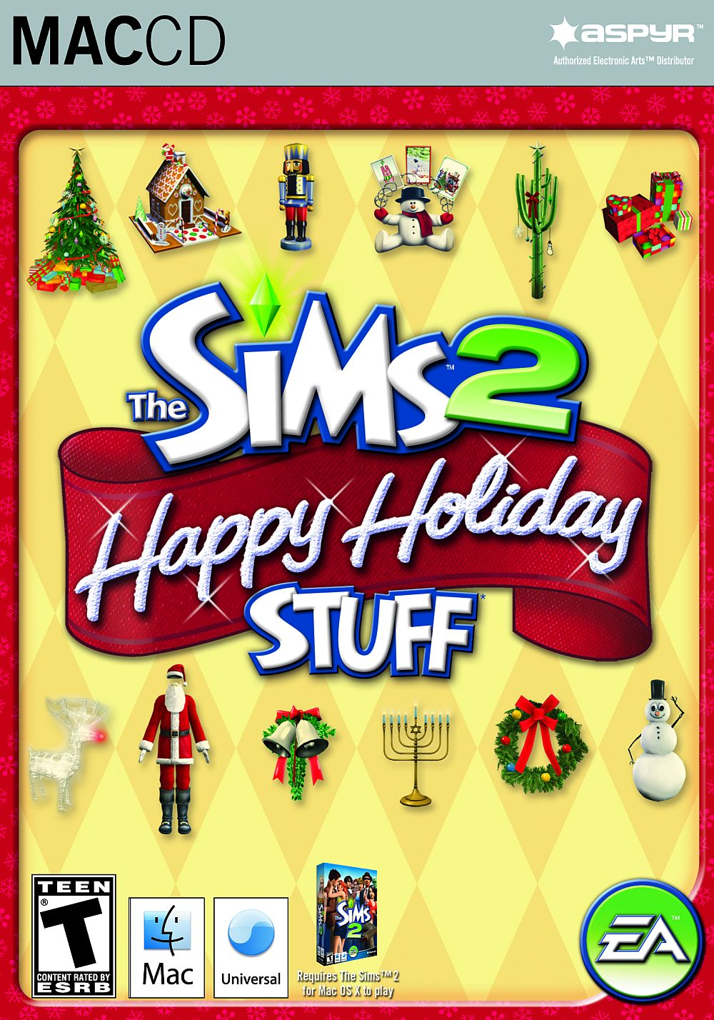 The Sims 2 Happy Holiday Stuff Pack Mac Game DVD
