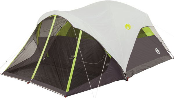 COLEMAN STEEL CREEK 6P FAST PITCH DOME  WITH SCREEN ROOM CAMPING TENT